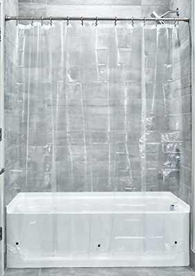 £5.24 • Buy IDesign 3.0 Liner Shower Curtain Mould-Free PEVA, Clear, 183 Cm X 183 Cm