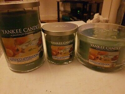 £32 • Buy Yankee Candle 3 Piece Tumbler Alfresco  Afternoon (PRICE REDUCED)