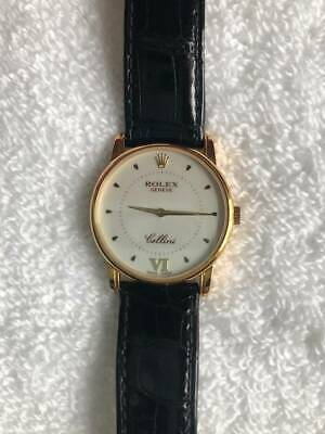 $ CDN4720.67 • Buy Rolex Cellini 5116 Box And Papers Gold White Dial Mint