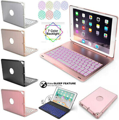 AU45.99 • Buy For IPad 7/8/9th 6th&5th Gen Air 1/2/3 Smart Case With Bluetooth Keyboard Cover
