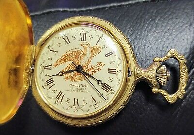 $51 • Buy Majestic 17jewels 16 Size Great Hunting Case Pocket Watch Running Mint Dial