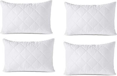 £12.75 • Buy Luxury Ultra Loft Jumbo Super Bounce Back Quilted Bed Pillows - 4 Pack