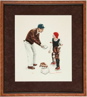 $ CDN4702.12 • Buy Norman Rockwell  Big Decision  Print Signed By Rockwell Gary Carter Provenance