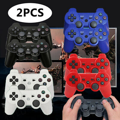 £12.49 • Buy 2Pcs Wireless Bluetooth Game Controllers Remote Pad For PS3 PlayStation Players