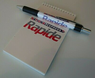 £2 • Buy National Express Rapide Notepad & Rapide Pen New Nbc National Bus Company