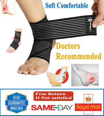 £3.25 • Buy New Ankle Foot Support Strap Adjustable Elastic Compression Bandage Wrap Sports