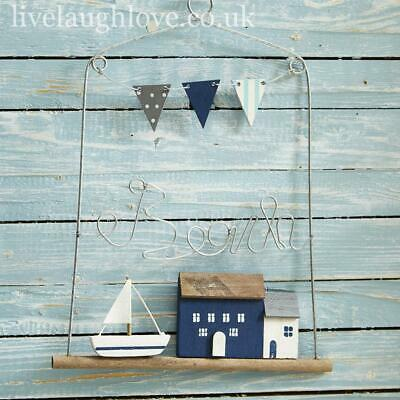 £6.95 • Buy Wire Work  Beach  Hanger With Bunting - 2 Styles