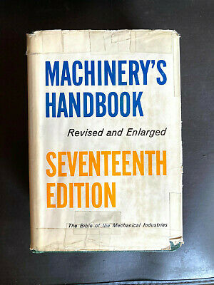 $30 • Buy VINTAGE MACHINERY'S HANDBOOK, 17TH EDITION 1964 THUMB INDEX In BOX
