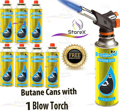 £10.95 • Buy Butane Gas With Blow Torch Flamethrower Burner Welding Auto Ignition Camping Set