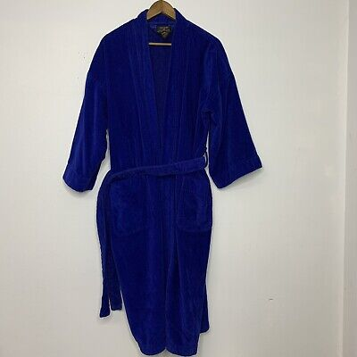 $44.99 • Buy COLOURS BY ALEXANDER JULIAN 90s VTG Mens Bath Robe Cotton L XL One Size Belted