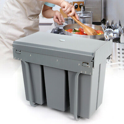 £58.91 • Buy Generic Pull Out Waste Bin Kitchen Built-In Dustbin 3*10L Recycling Trash Can