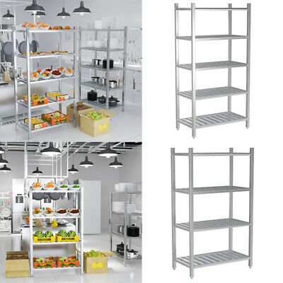 £79.95 • Buy Commercial 4/5 Tier Food Storage Rack Stainless Steel Kitchen Catering Shelving