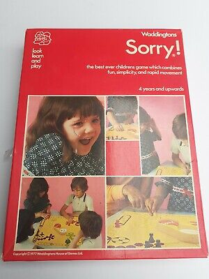 £12 • Buy Sorry! (1973 Edition) Vintage Board Game By Waddingtons
