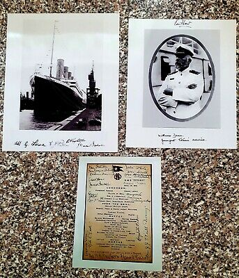 £12 • Buy 3 Items With Titanic Related Crew & Passenger Signatures