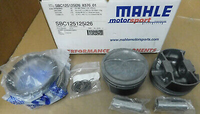 $649.99 • Buy Mahle SBC125125126 Forged Dish Pistons W/Rings, 4.125 Bore, 3.750 Stk, 6.00 Rod