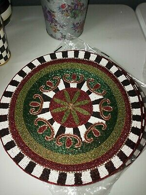 $26 • Buy Mackenzie-Childs Courtly Check Holiday Placemats