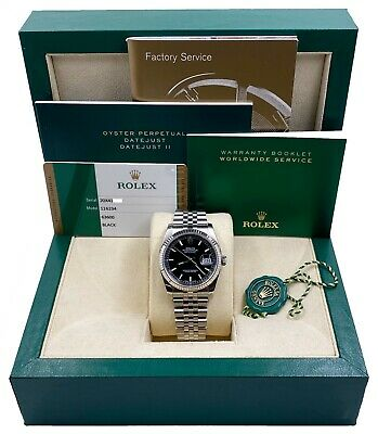 $ CDN11323.35 • Buy Rolex 116234 Datejust Black Dial Stainless Steel Box Papers 2015