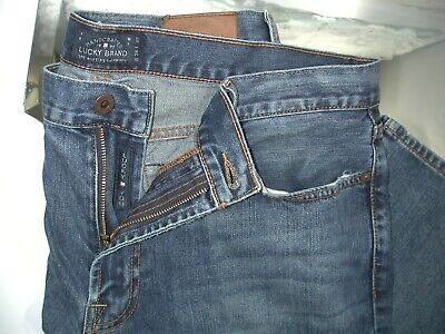 $28.75 • Buy Lucky Brand Mens 38 X 32 181 Relaxed Straight Denim Distressed Medium Wash Jeans