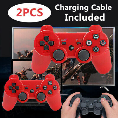 £13.99 • Buy UK 2Pcs Wireless Bluetooth Controller Handle Gamepad For PS3 PlayStation3 UK TOP