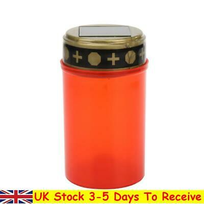 £7.45 • Buy Grave Electronic LED Candle Lamp Flameless Solar Decorative Tea Light (Red)