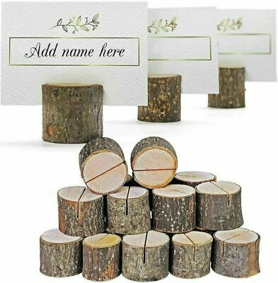 £13.99 • Buy 40x Wooden Table Card Holder Stand Number Place Name Menu Wedding Party Decor