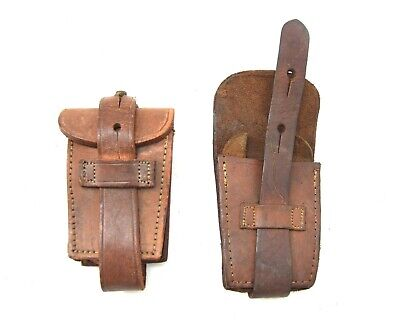 £9.99 • Buy Genuine Argentina Military Leather Ammo Pouch Argentinian Army 1909 Mauser Pouch