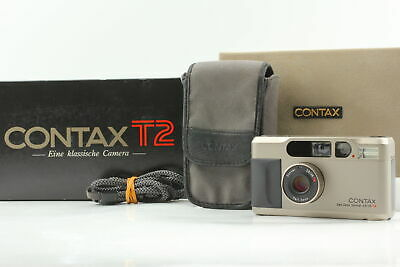 $ CDN1510.61 • Buy **Mint In Box** Contax T2 35mm Silver Point & Shoot Film Camera From JAPAN