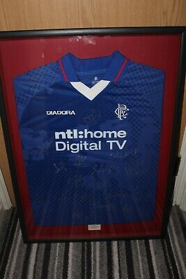 £345 • Buy Vintage Rangers Fc Multi Signed Framed League Winners Shirt 2002/2003 With Coa