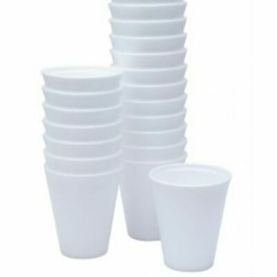 £9.25 • Buy 100 Polystyrene Foam Disposable Cups Size 7oz 190ml Thermal Hot Drink Food Caf