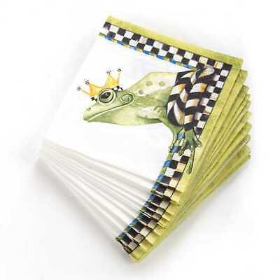 $14.99 • Buy MacKenzie-Childs Frog Paper Napkins - Cocktail (20 Per Pack) NEW