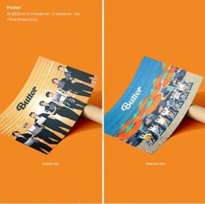 $35 • Buy BTS Official Butter Limited First Press Posters Peaches & Cream SET In Tube