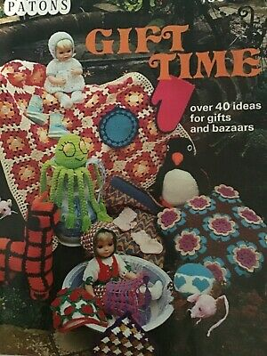 £4.99 • Buy Patons Gift Time Knitting / Crochet Pattern Booklet. Vintage. New