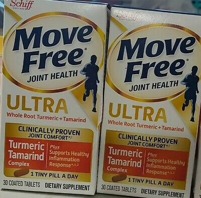$18.97 • Buy Two 30ct Schiff Move Free Ultra Turmeric & Tamarind For Joint Comfort Exp 2022