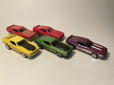 $19.95 • Buy Hot Wheels 71 Mustang Mach 1 - Loose Lot Of 5 Incl Garage, Decades, 50th Anniv