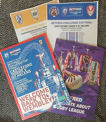 £14.39 • Buy RUGBY LEAGUE CHALLENGE CUP FINAL 2021 St Helens V Castleford Tigers Programme!!!