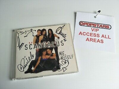 AU39.99 • Buy SCANDALUS - Me Myself  & I - SIGNED CD SINGLE + ALL ACCESS PASS