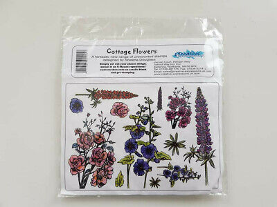 £4.50 • Buy Sheena Douglass/Creative Expressions Cottage Flowers Rubber Stamps