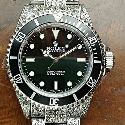 $ CDN6241.75 • Buy Rolex Submariner Hand Engraving Service Engraved Watches Custom 14060 16610