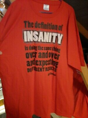 £5 • Buy Funny T Shirt The Definition Of Insanity Is Doing The.. Size 3XL XXXL Never Worn