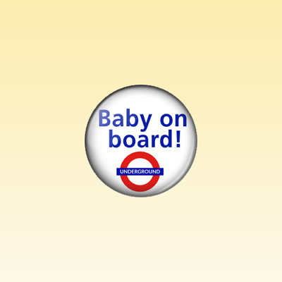 £0.99 • Buy BABY ON BOARD UNDERGROUND - 25mm Button Badge - Pregnancy Expecting Child Baby