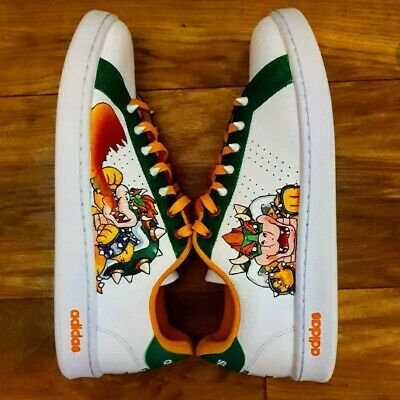 £90 • Buy Adidas Bowser Custom Trainers With Spikes !
