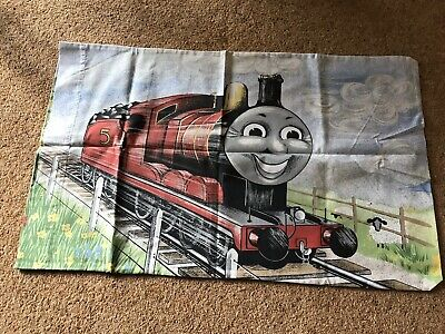 """£6 • Buy Vintage """"Thomas The Tank Engine"""" Pillow Case Featuring JAMES AND PERCY 75x47cm"""