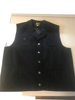$15.20 • Buy Wyoming Traders Mens Black Western Button Front Vest Size L