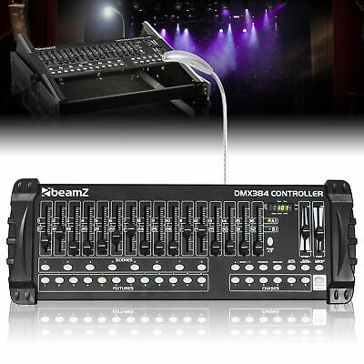 £120 • Buy DMX Lighting Controller 384 Channel (12x32) Rack Mount With Faders And USB Light