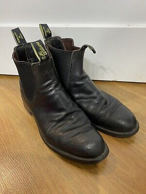 AU75 • Buy RM WILLIAMS Mens Boots Pull On Leather Sz 10 Black