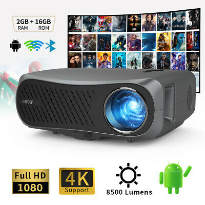 £455 • Buy 10000:1 Android 5G WiFi Projector 4K Movie Native 1080p Home Cinema Netflix Zoom