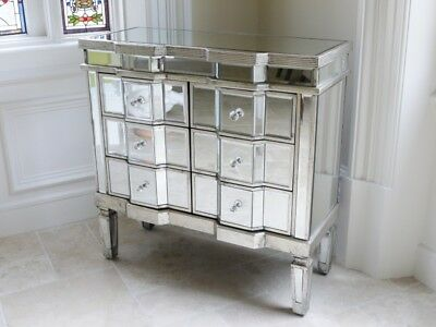 £279.99 • Buy Venetian Mirrored 6 Drawer Silver Wide 3 X 3 Chest - More Items In This Range