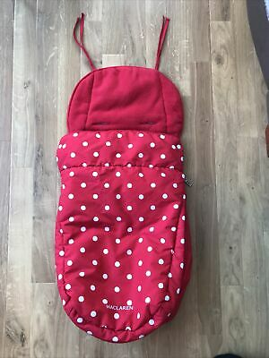 £29.99 • Buy Maclaren Universal Footmuff Red Spotty Cosy Toes Cath Kidston