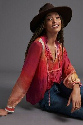 $ CDN85.60 • Buy New Anthropologie Conditions Apply Etienne Peasant Blouse Size Medium