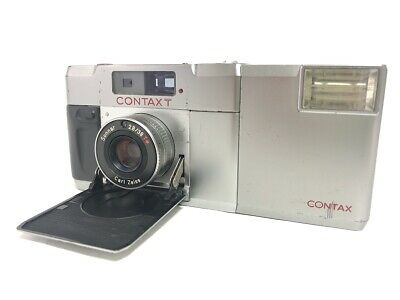 $ CDN598.69 • Buy EXC+5 CONTAX T Silver 35mm Rangefinder Film Camera + T14 Flash From JAPAN #1946